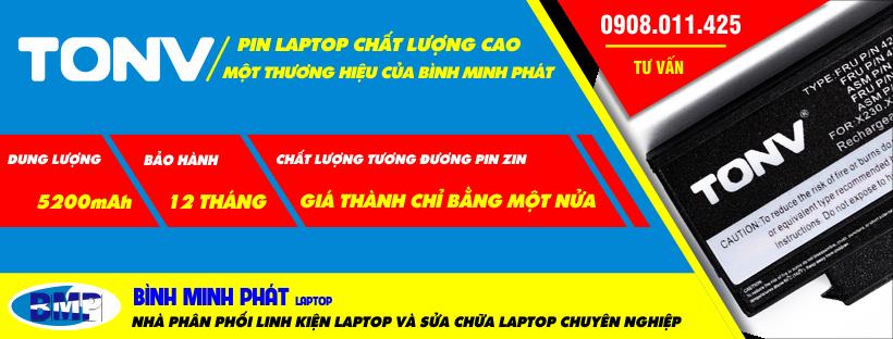 Pin laptop chất lượng cao TONV
