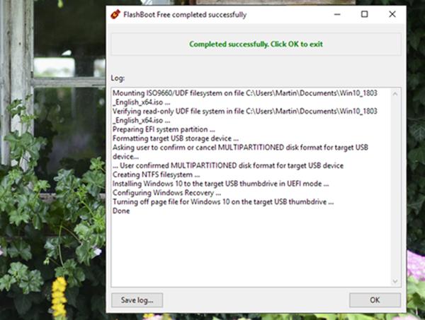 Và cuối cùng, quá trình sao chép và cài đặt Windows vào USB sẽ diễn ra.